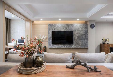 秀峰里160平米简约风格公寓装修效果图