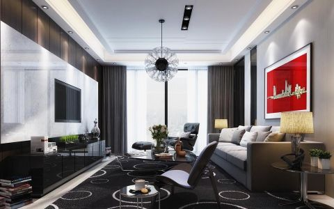 2019现代简约110平米装修图片 2019现代简约二居室装修设计