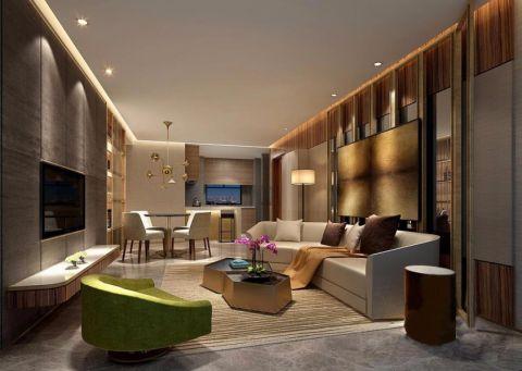 12平简约风格二居室家装效果图