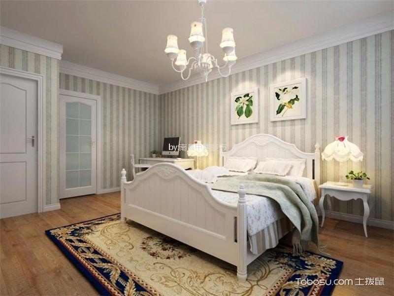 卧室白色吊顶田园风格装修设计图片
