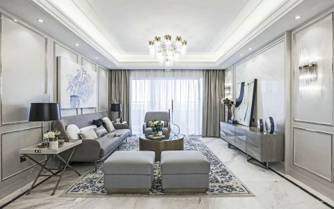 2021法式150平米效果图 2021法式三居室装修设计图片