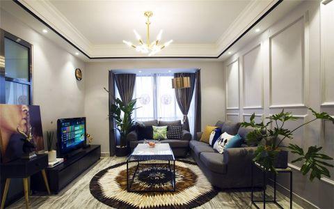 7万预算101平米三室两厅装修效果图