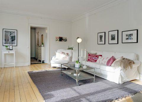 保利玫瑰湾简欧风格80平二居室装修效果图