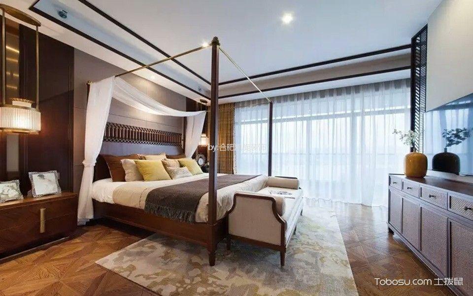 卧室白色床东南亚风格装饰设计图片