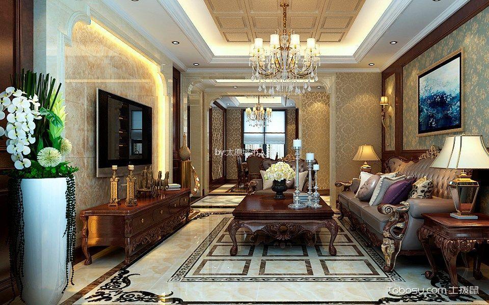 海唐广场130平米欧式风格三居室装修效果图