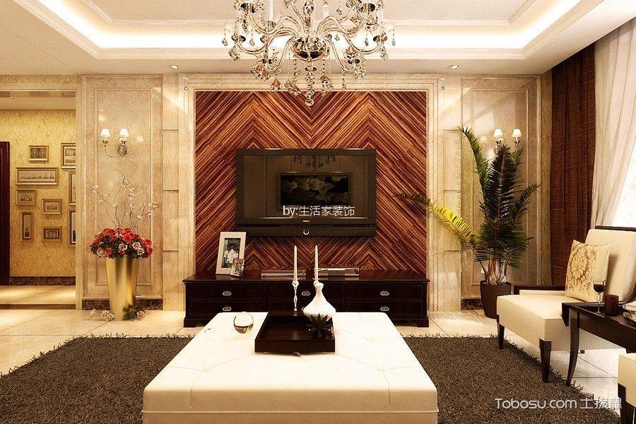 泰达河与海142平欧式风格三居室装修效果图