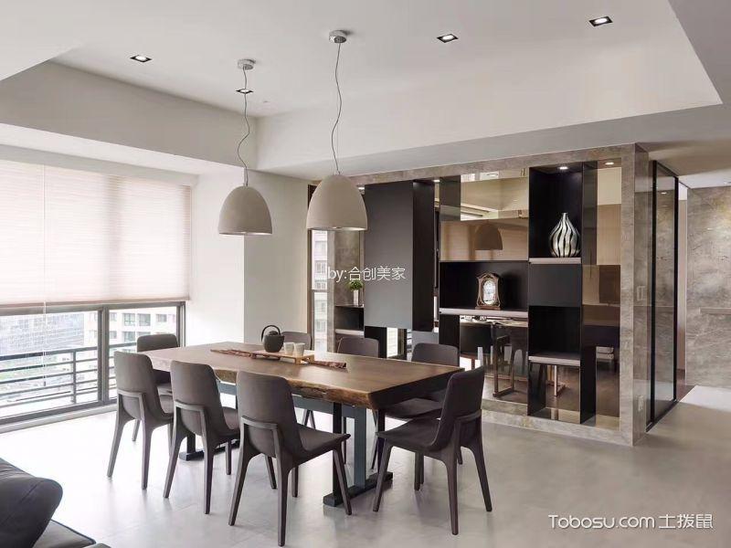 120平简中风格二居室装修效果图