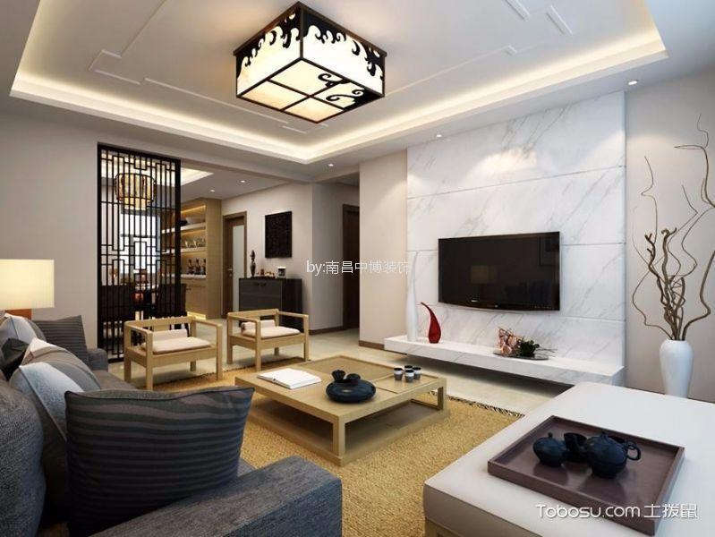 莱蒙都会110平清雅含蓄新中式风格三居室装修效果图