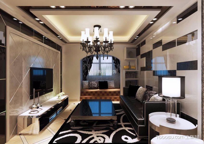 现代简约风格110平三室两厅装修效果图