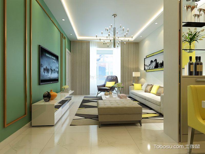 60平现代简约风格二居室装修效果图