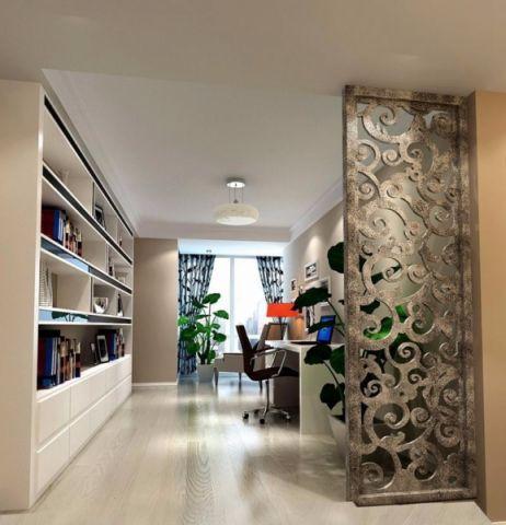 2018现代简约书房装修设计 2018现代简约隔断装修设计