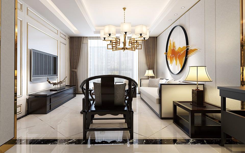 2室1卫1厅现代中式风格