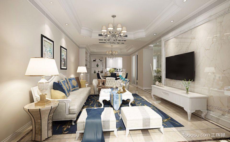 11万预算140平米三室两厅装修效果图