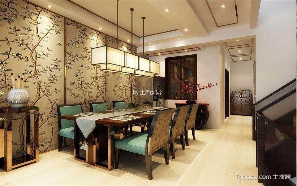 孔雀城120平新中式装修风格装修效果图