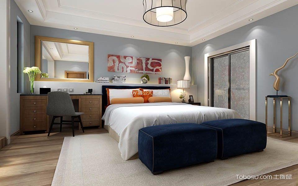 卧室咖啡色梳妆台新中式风格装潢设计图片