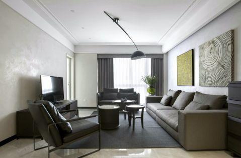 上书房120平现代风格公寓装修效果图