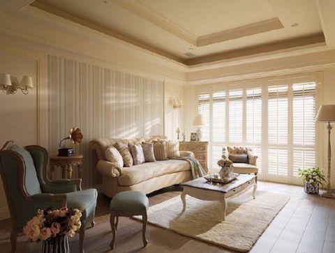 新家园160平米田园混搭风四居室装修效果图