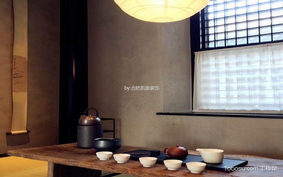中式古典风格茶馆包间茶几装修图片