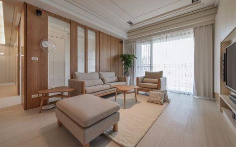 社会山日式风格90平二居室装修效果图