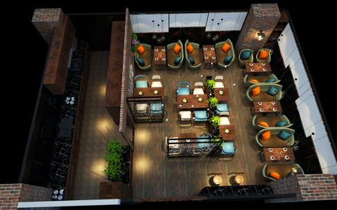 西餐厅装修效果图