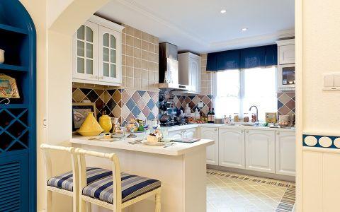 地中海风格厨房吧台装饰图