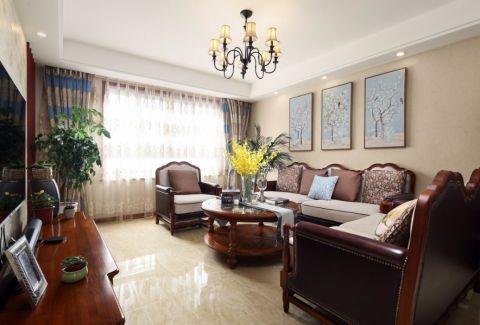 嘉州洋房168平中式风格三室两厅装修效果图