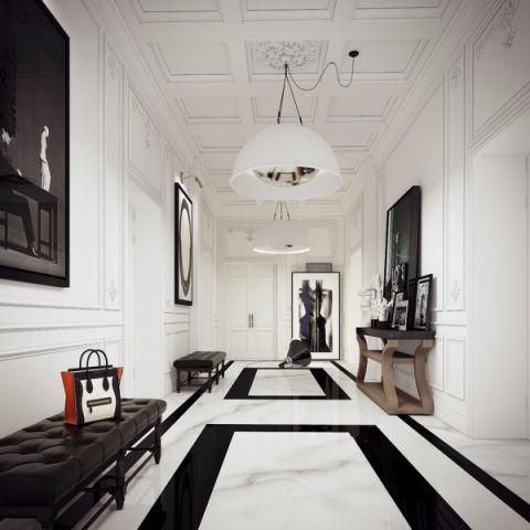 庄重新古典白色集成吊顶室内装修设计