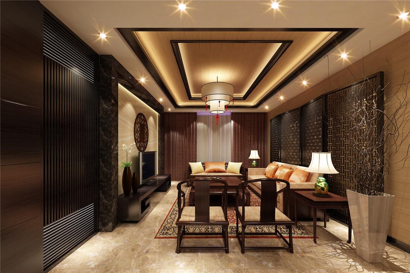 3室2卫1厅225平米新中式风格
