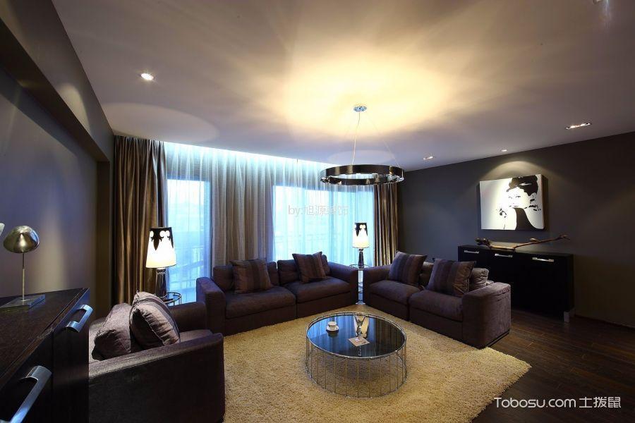 金地艺境现代风格三居室装修效果图
