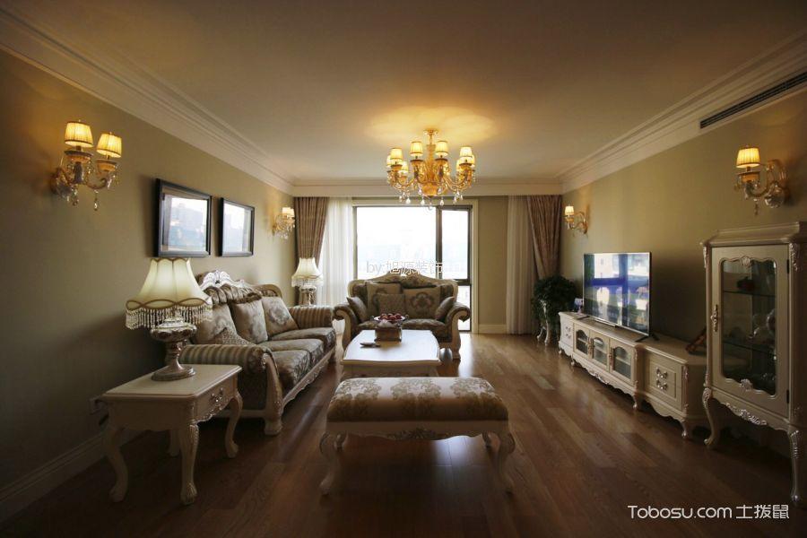 尚景国际欧式风格三居室装修效果图