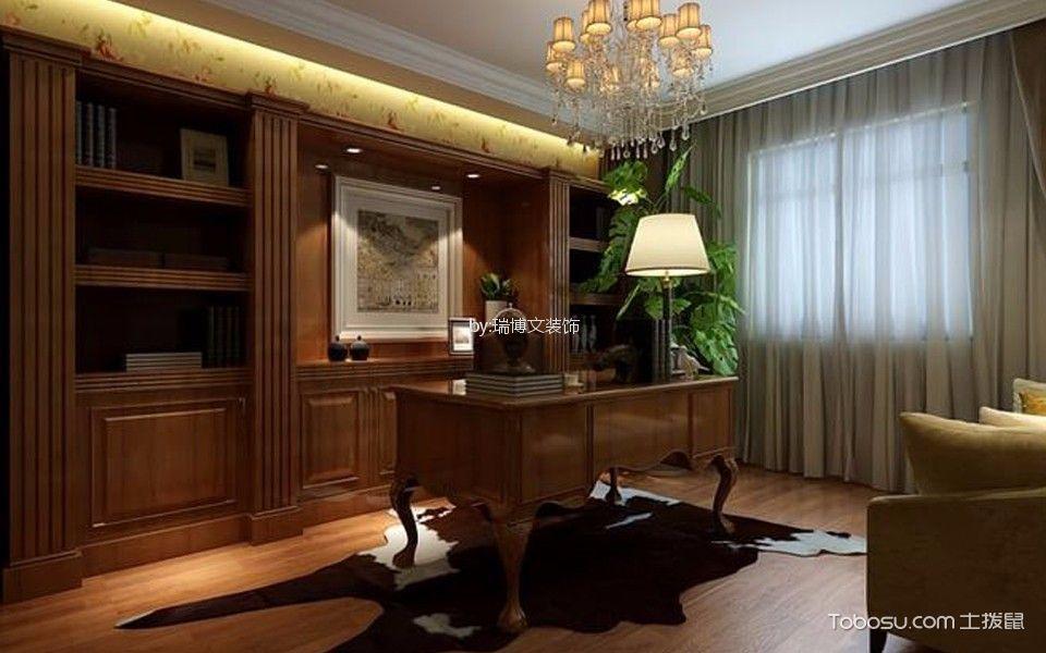 北京华业东方玫瑰90平米现代欧式风格效果图