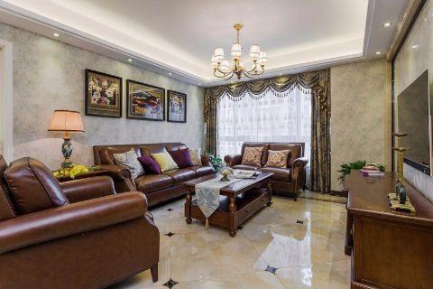 2021新古典110平米装修设计 2021新古典三居室装修设计图片