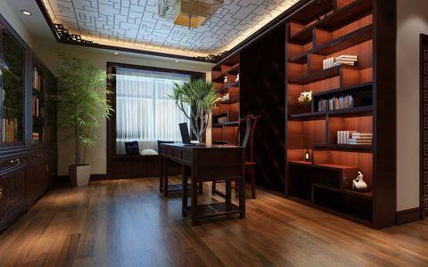 质朴咖啡色博古架室内装修设计