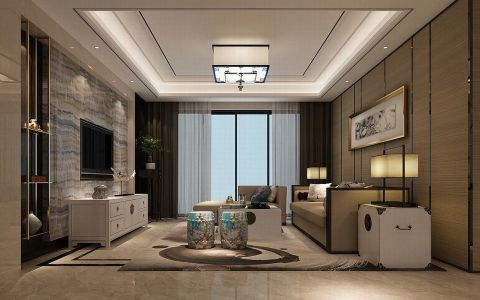 青岛装修126平米 新中式二居室北京pk10开奖视频