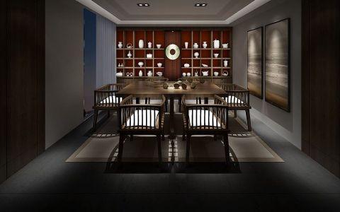 餐厅背景墙新中式风格装修效果图