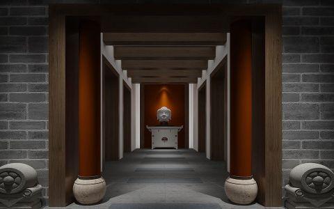 玄关走廊新中式风格装饰效果图
