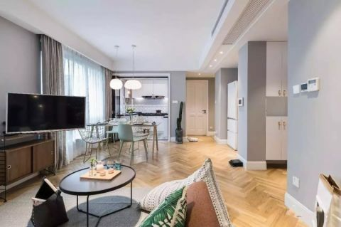 翠屏国际城90平米简约三室两厅装修效果图