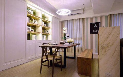 书房窗帘简约风格装潢效果图
