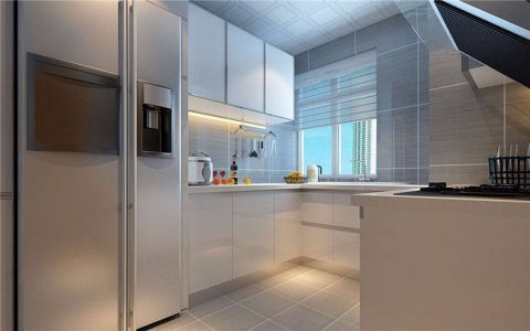 厨房吧台田园风格装修效果图