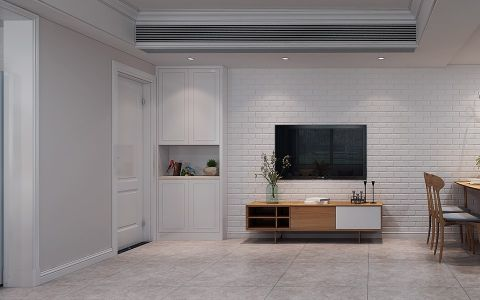 客厅背景墙北欧风格装修效果图