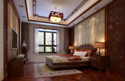 卧室地板砖中式风格装潢效果图