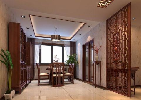 餐厅吊顶中式风格装修图片