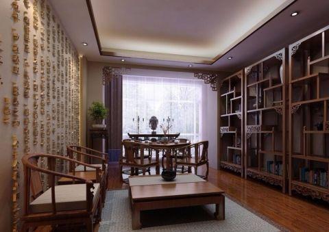 书房吊顶中式风格装饰图片