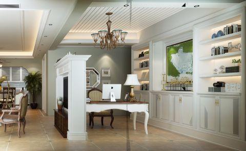 书房吊顶美式风格装饰效果图