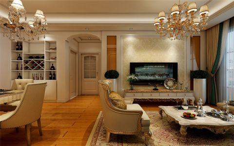 7万预算93平米两室两厅装修效果图