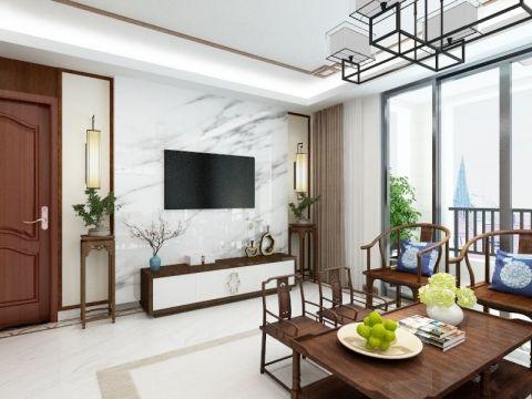 三居室新中式风格装修效果图