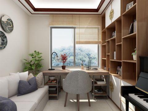 书房飘窗新中式风格装潢设计图片
