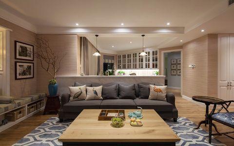 紫廷名苑混搭风格三居室装修效果图