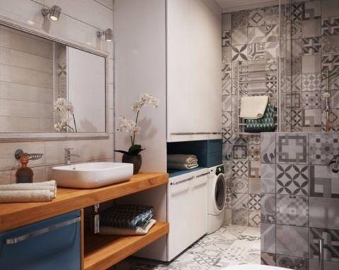 卫生间走廊北欧风格装修图片