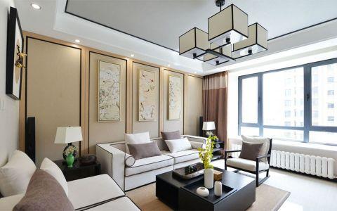 中海复兴九里110平中式风格三室两厅装修效果图